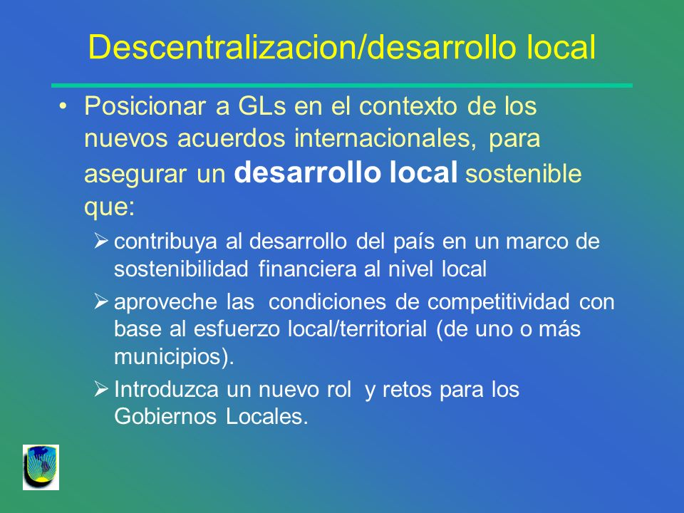 Descentralizacion/desarrollo local