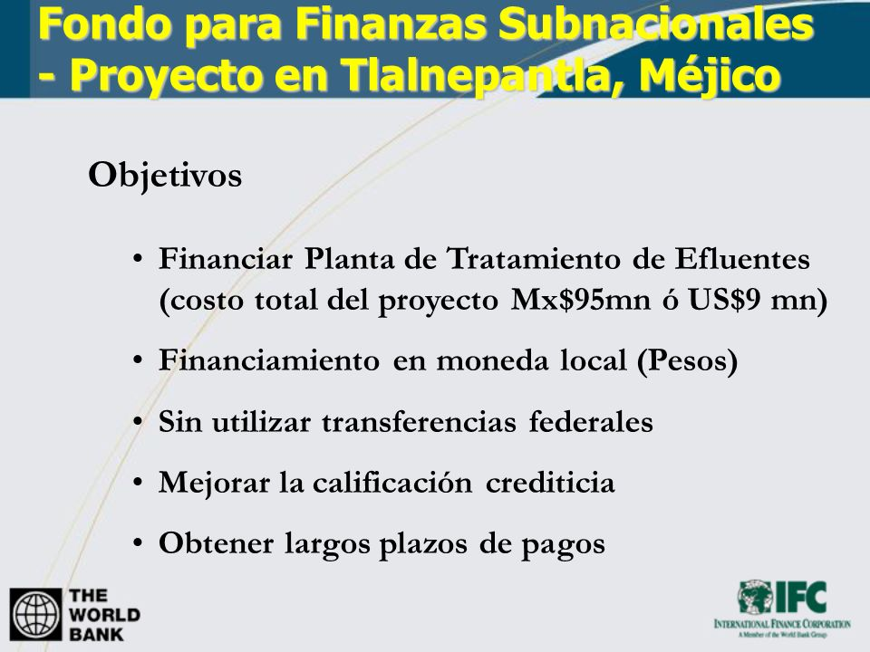 Fondo para Finanzas Subnacionales - Proyecto en Tlalnepantla, Méjico