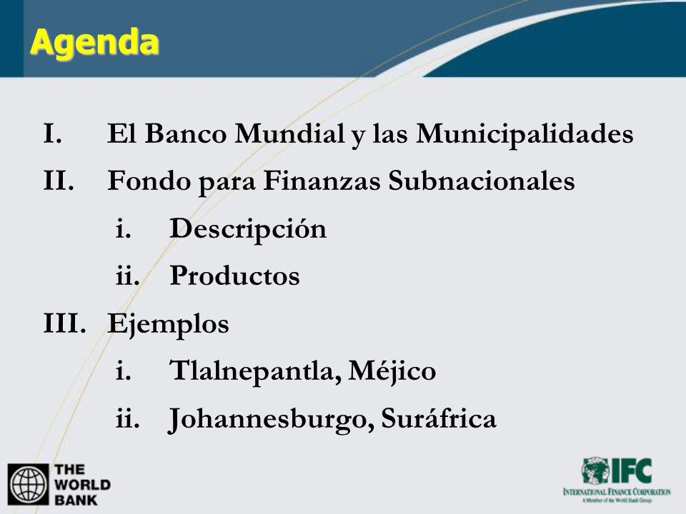 Agenda El Banco Mundial y las Municipalidades