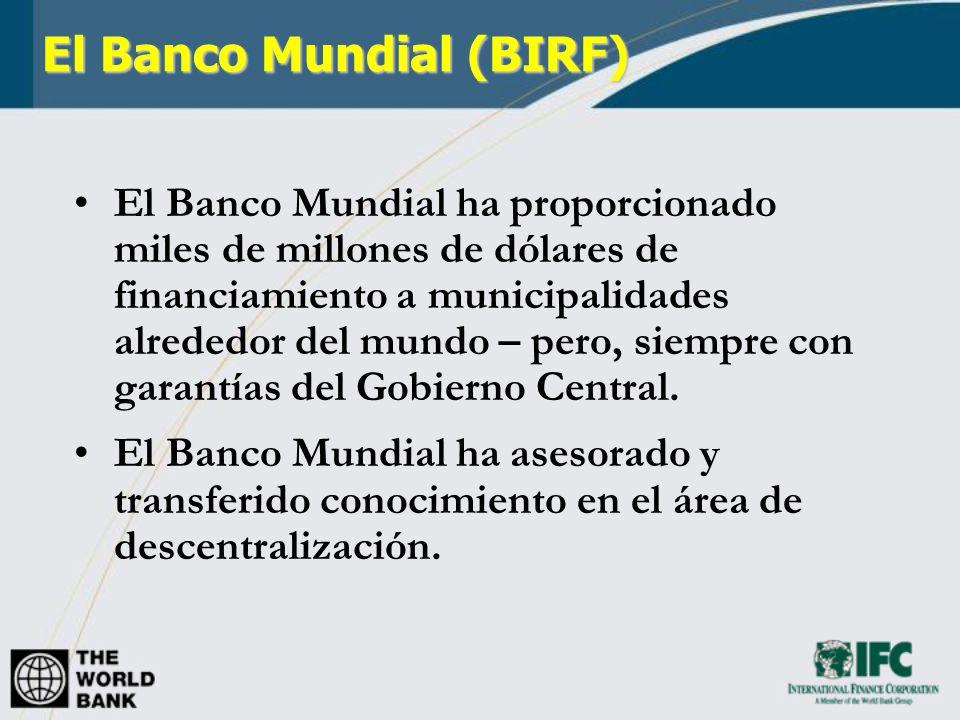 El Banco Mundial (BIRF)