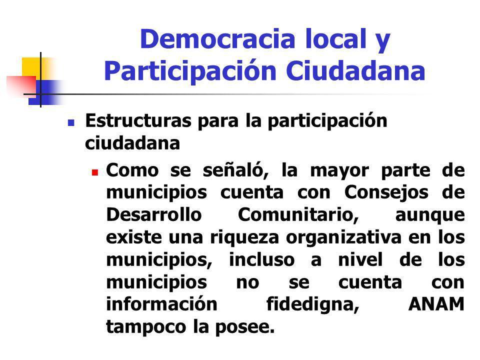 Democracia local y Participación Ciudadana