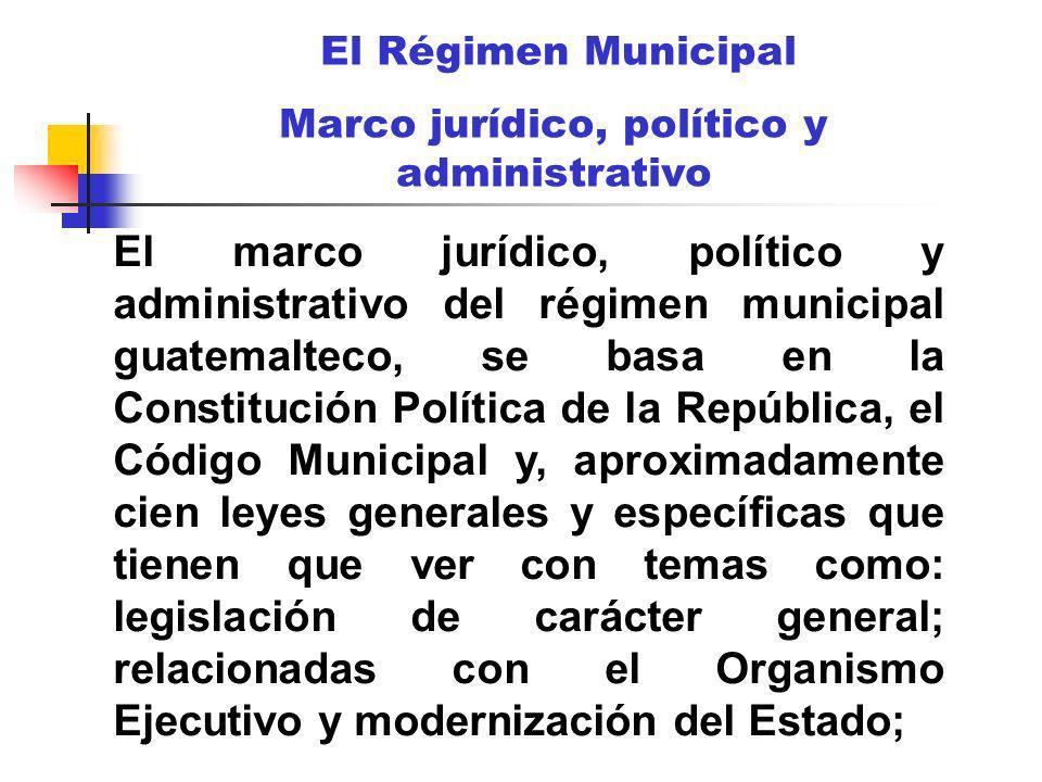 Marco jurídico, político y administrativo