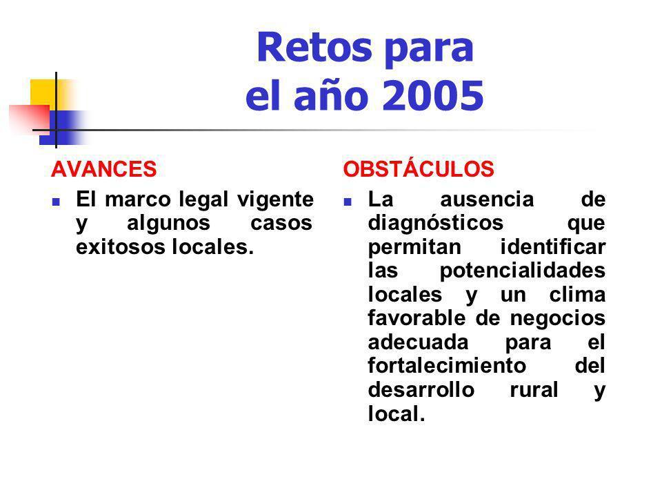 Retos para el año 2005 AVANCES