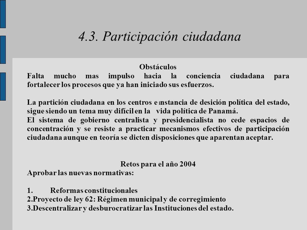 4.3. Participación ciudadana