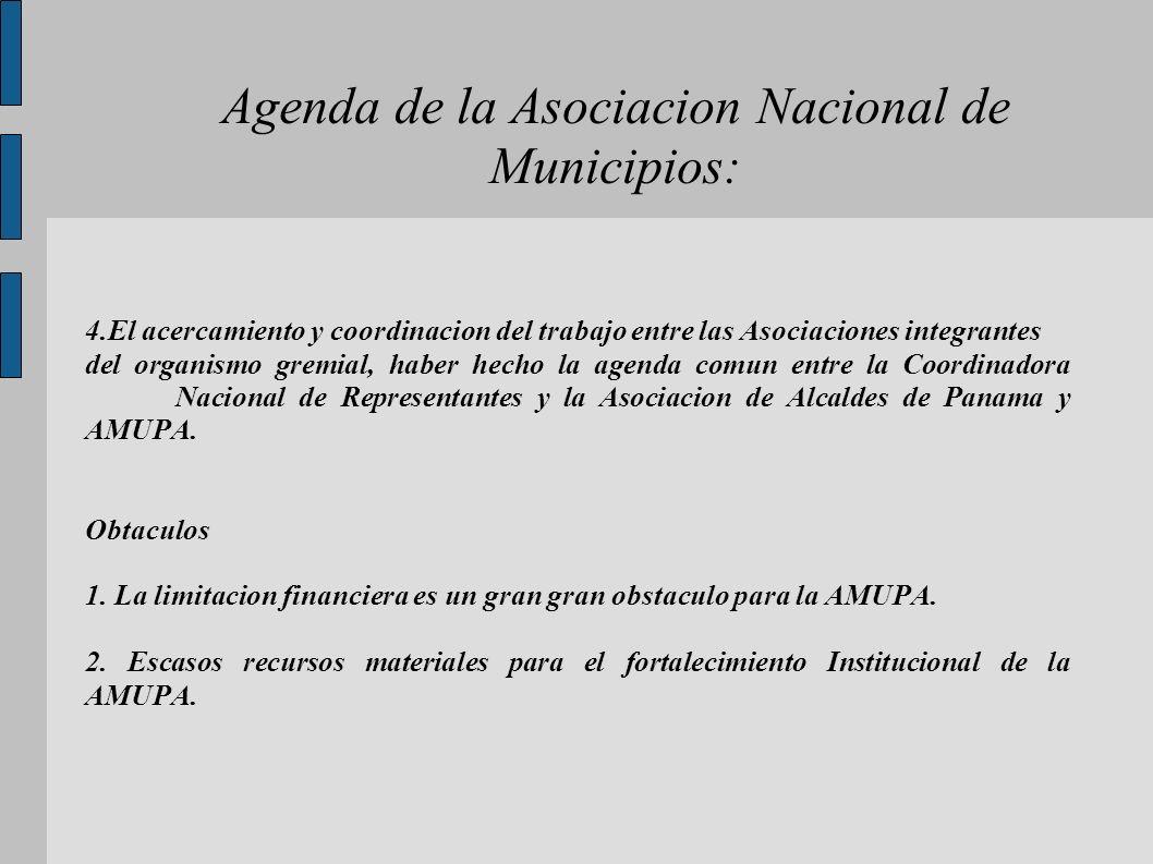 Agenda de la Asociacion Nacional de Municipios: