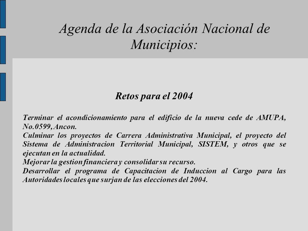 Agenda de la Asociación Nacional de Municipios: