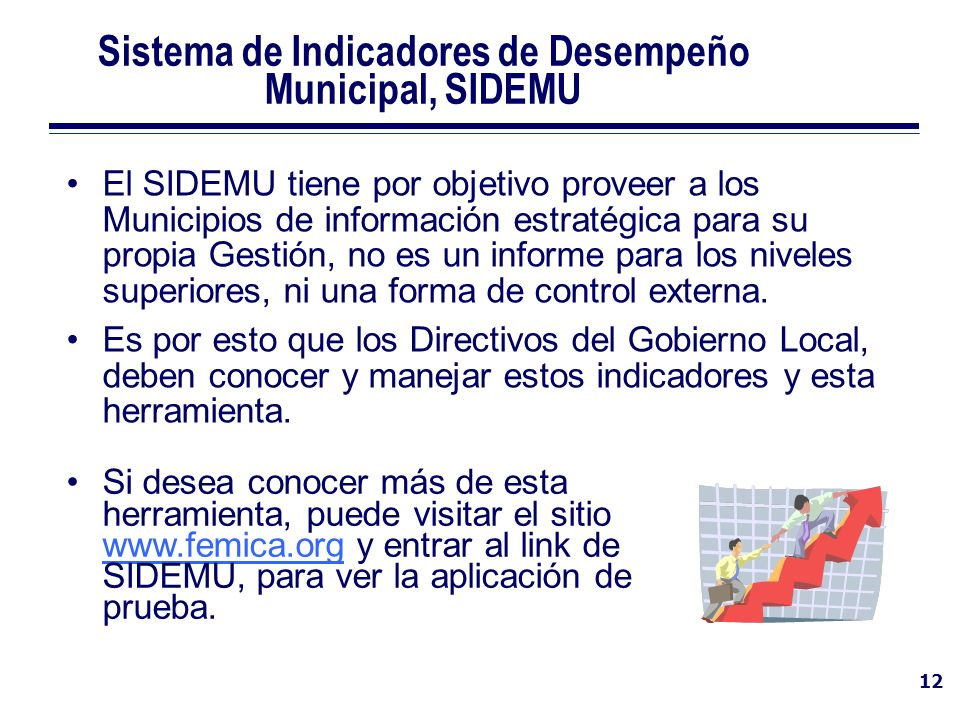 Sistema de Indicadores de Desempeño Municipal, SIDEMU