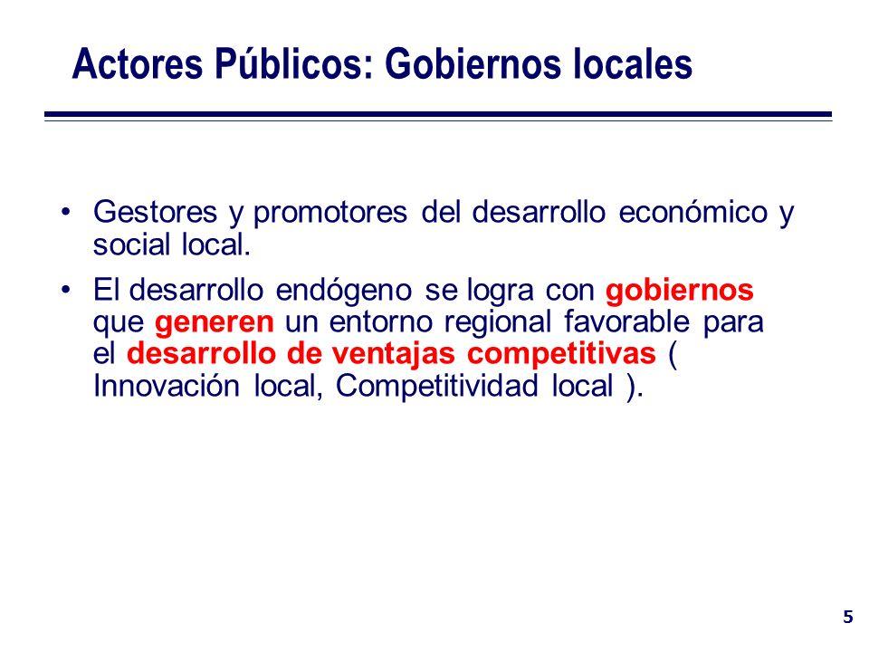 Actores Públicos: Gobiernos locales