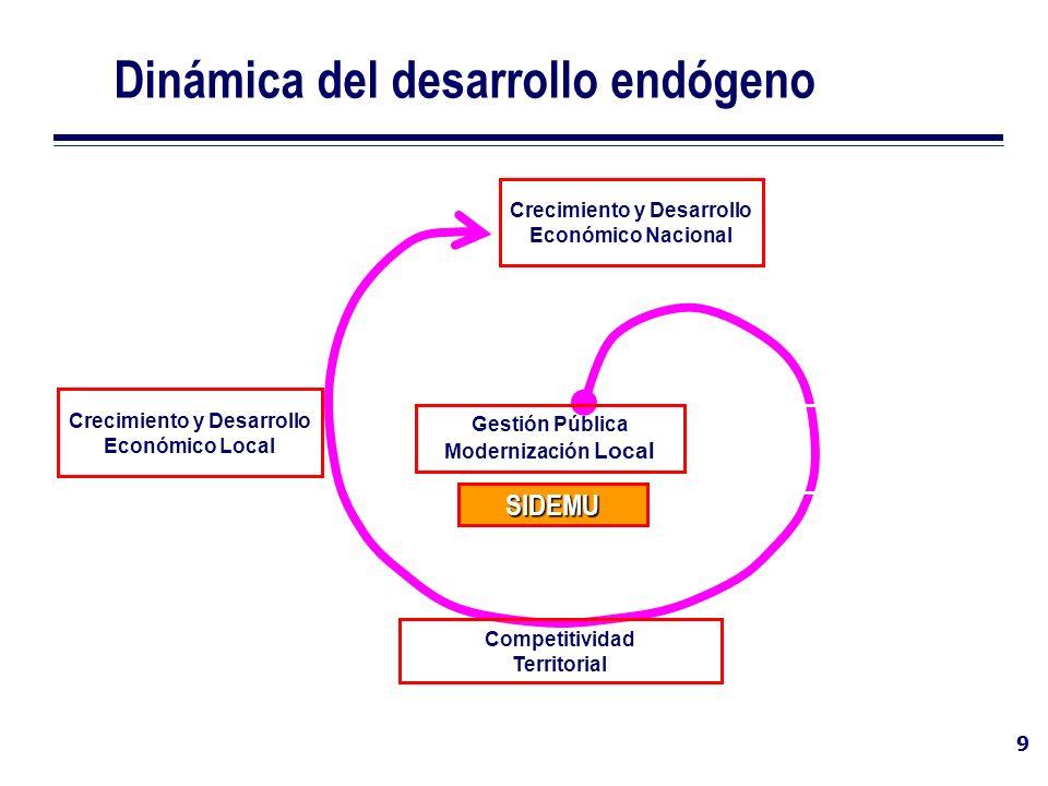 Dinámica del desarrollo endógeno
