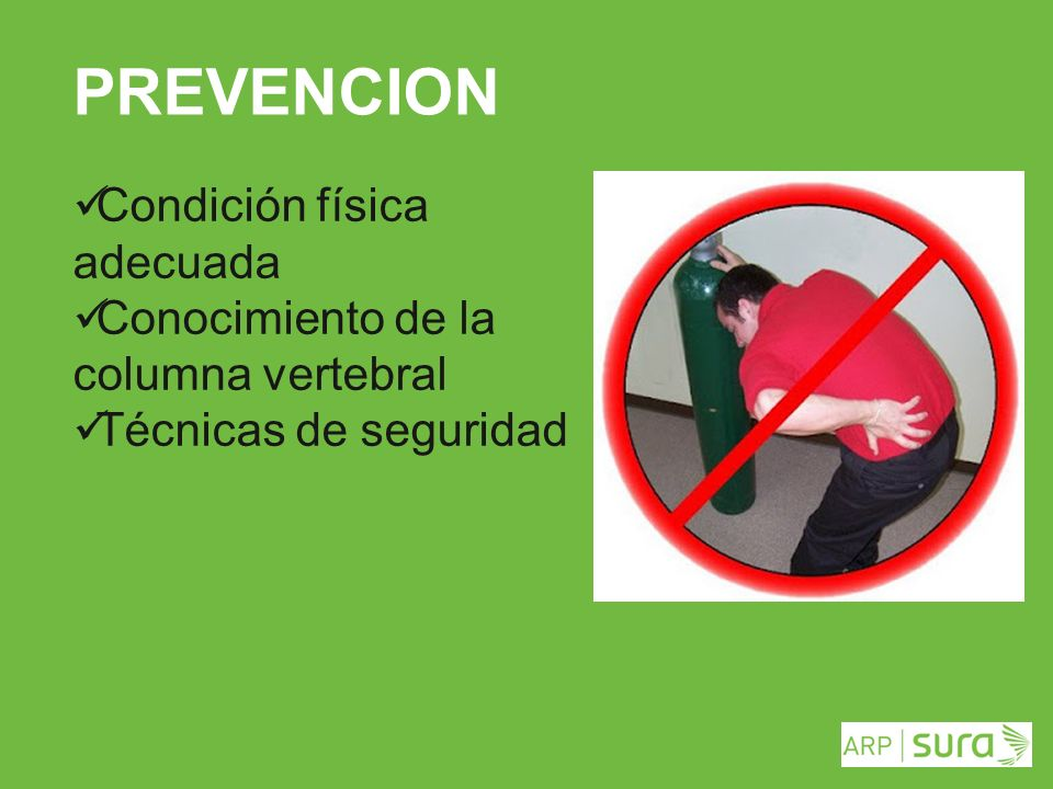 PREVENCION Condición física adecuada