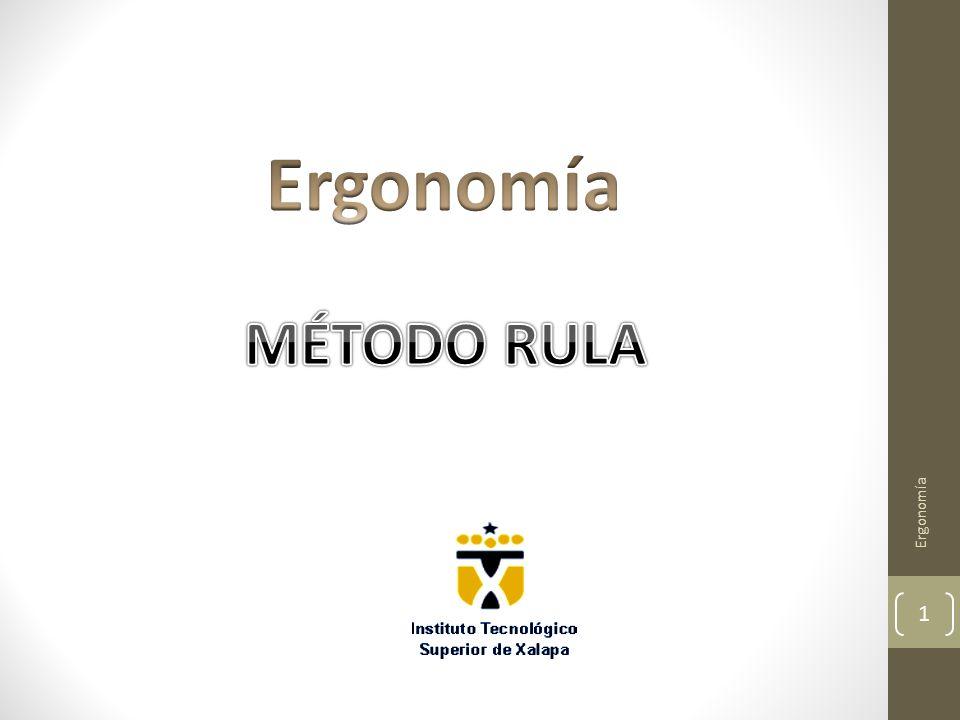Ergonomía MÉTODO RULA Ergonomía
