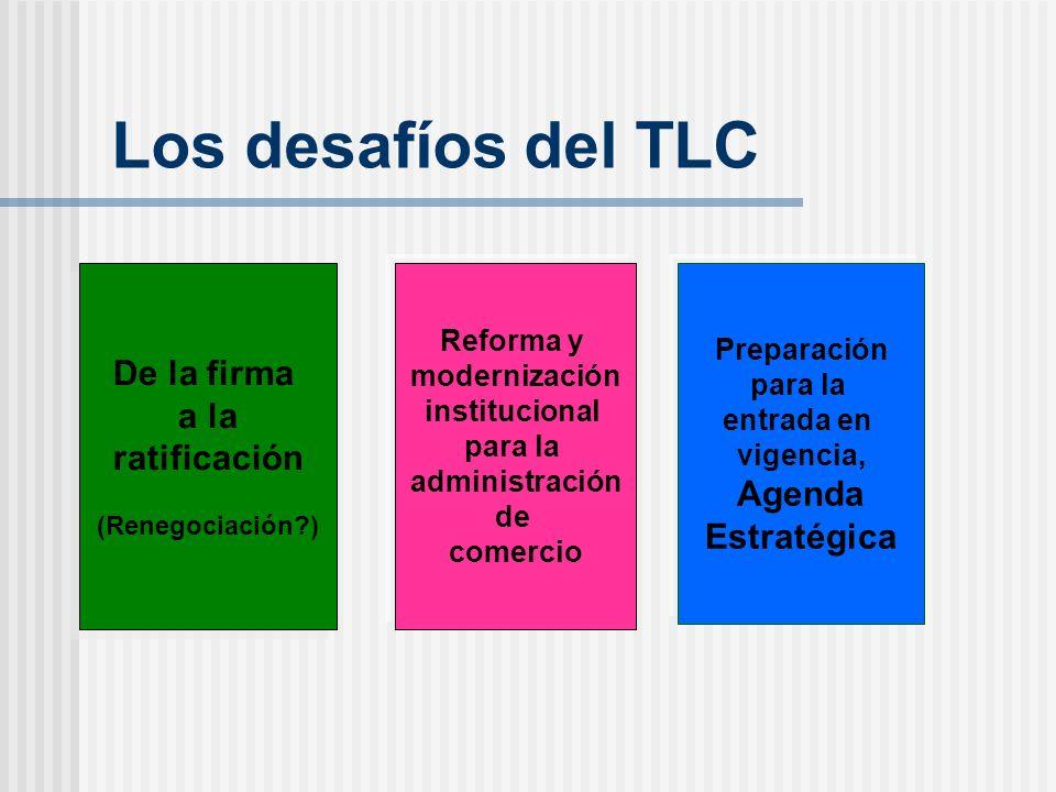 Los desafíos del TLC De la firma a la ratificación Agenda Estratégica