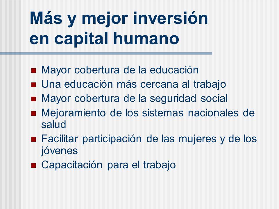 Más y mejor inversión en capital humano