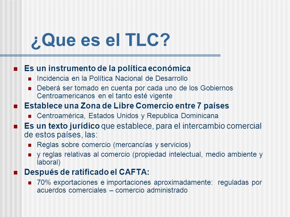 ¿Que es el TLC Es un instrumento de la política económica