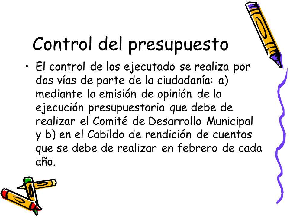 Control del presupuesto