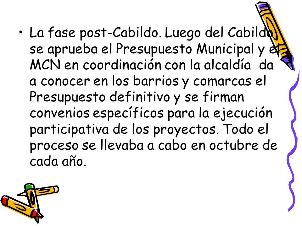 La fase post-Cabildo.