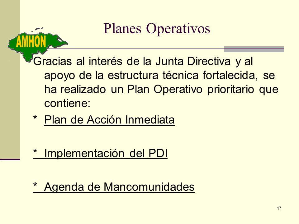 Planes Operativos AMHON