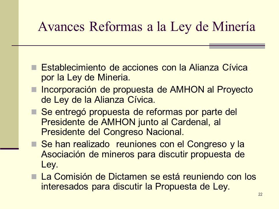 Avances Reformas a la Ley de Minería