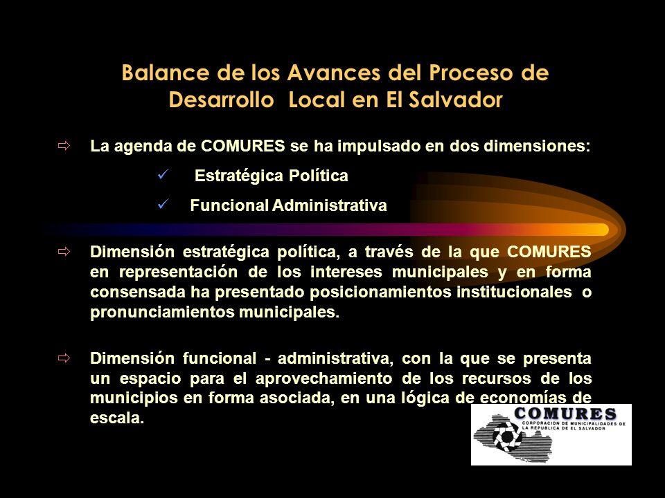 Balance de los Avances del Proceso de Desarrollo Local en El Salvador