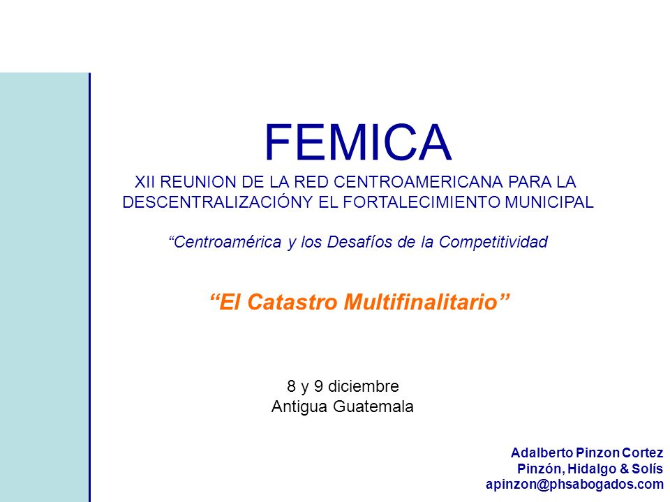 FEMICA El Catastro Multifinalitario