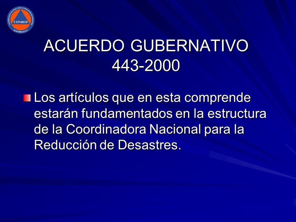 ACUERDO GUBERNATIVO 443-2000