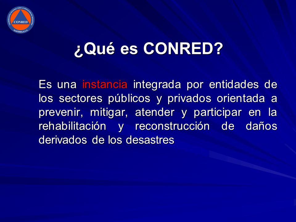 ¿Qué es CONRED