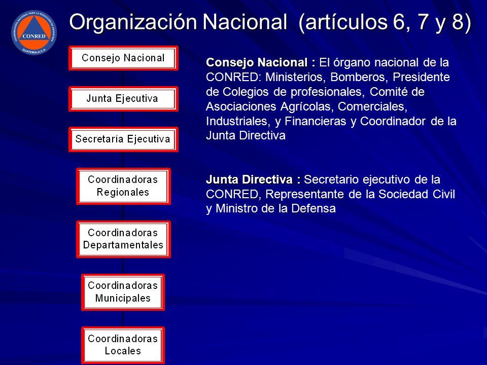 Organización Nacional (artículos 6, 7 y 8)