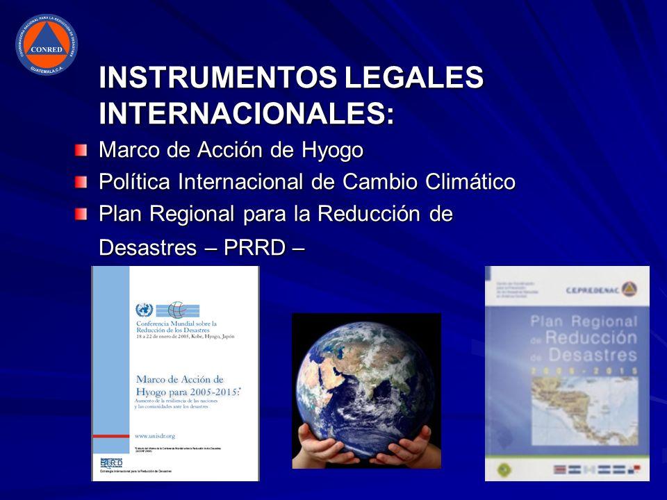 INSTRUMENTOS LEGALES INTERNACIONALES: