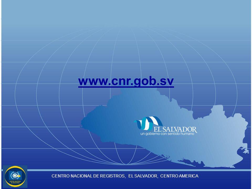 CENTRO NACIONAL DE REGISTROS, EL SALVADOR, CENTRO AMERICA