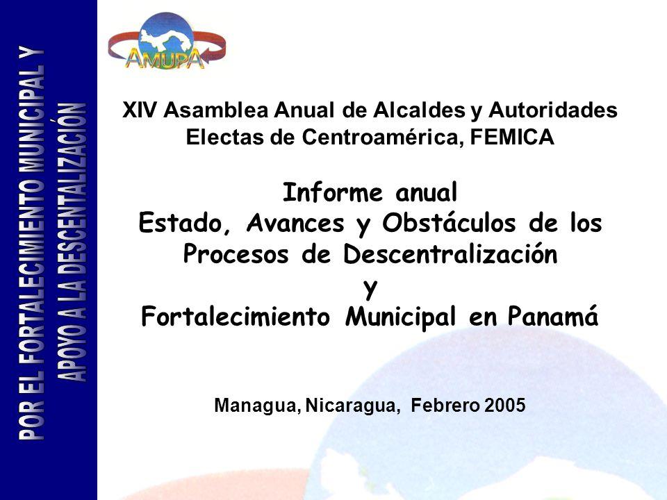 POR EL FORTALECIMIENTO MUNICIPAL Y APOYO A LA DESCENTALIZACIÓN