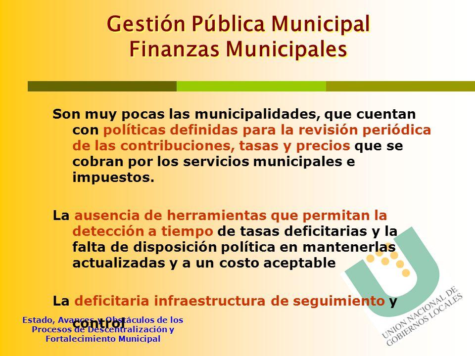 Gestión Pública Municipal Finanzas Municipales