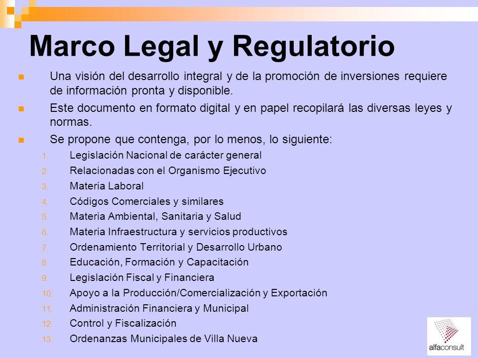 Marco Legal y Regulatorio