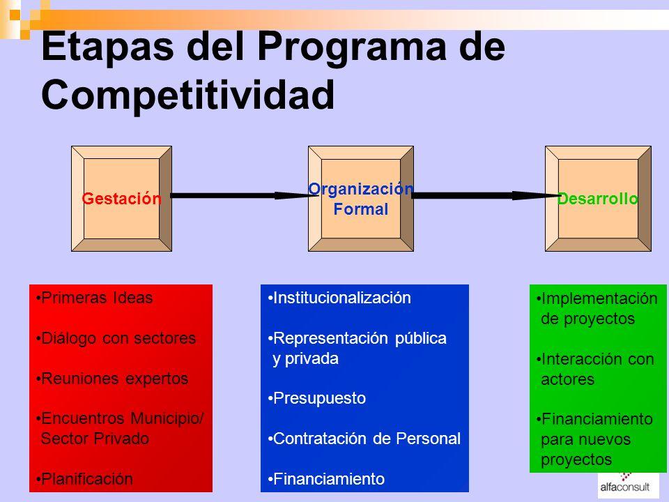 Etapas del Programa de Competitividad
