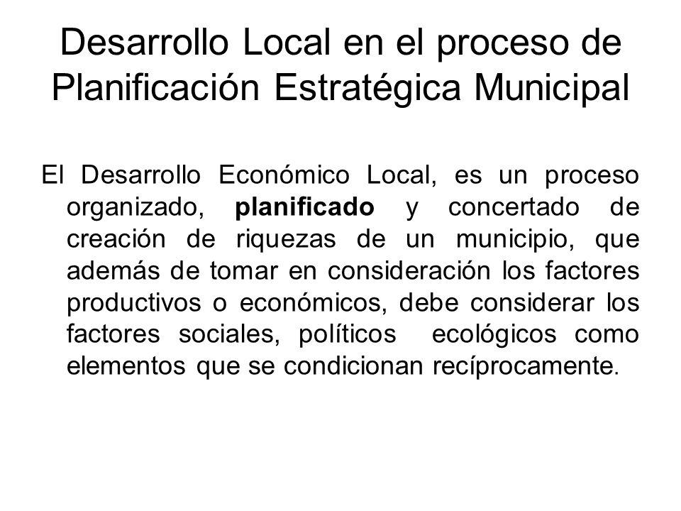 Desarrollo Local en el proceso de Planificación Estratégica Municipal