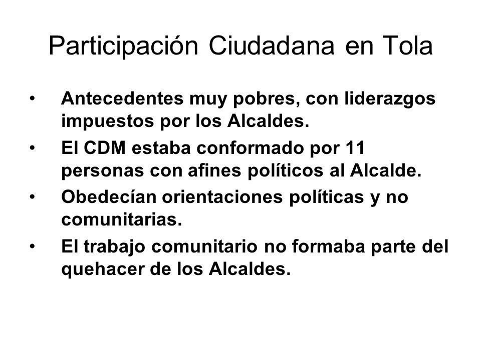 Participación Ciudadana en Tola