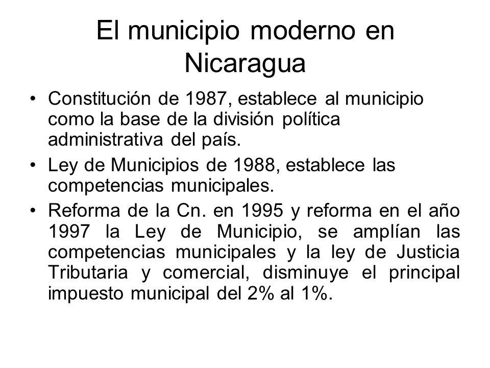 El municipio moderno en Nicaragua
