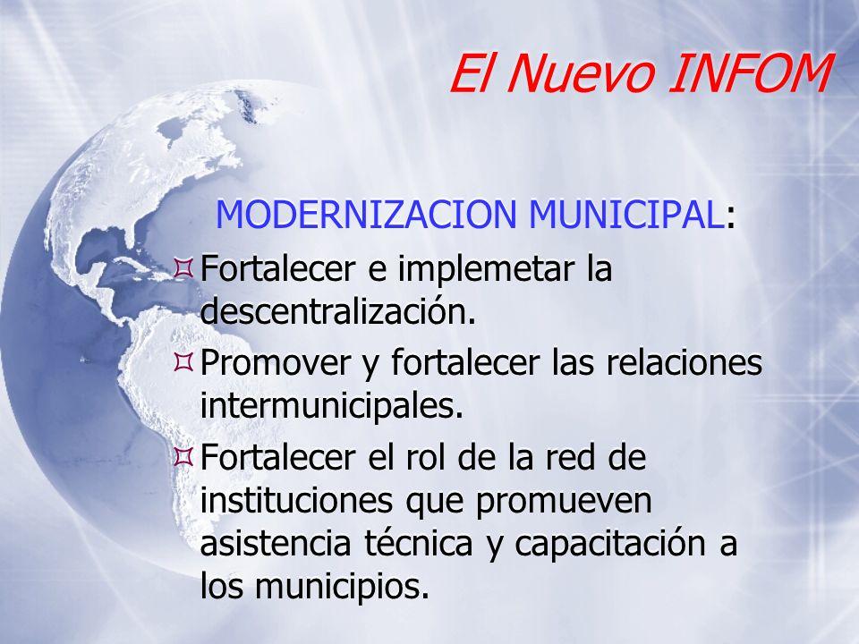 MODERNIZACION MUNICIPAL: