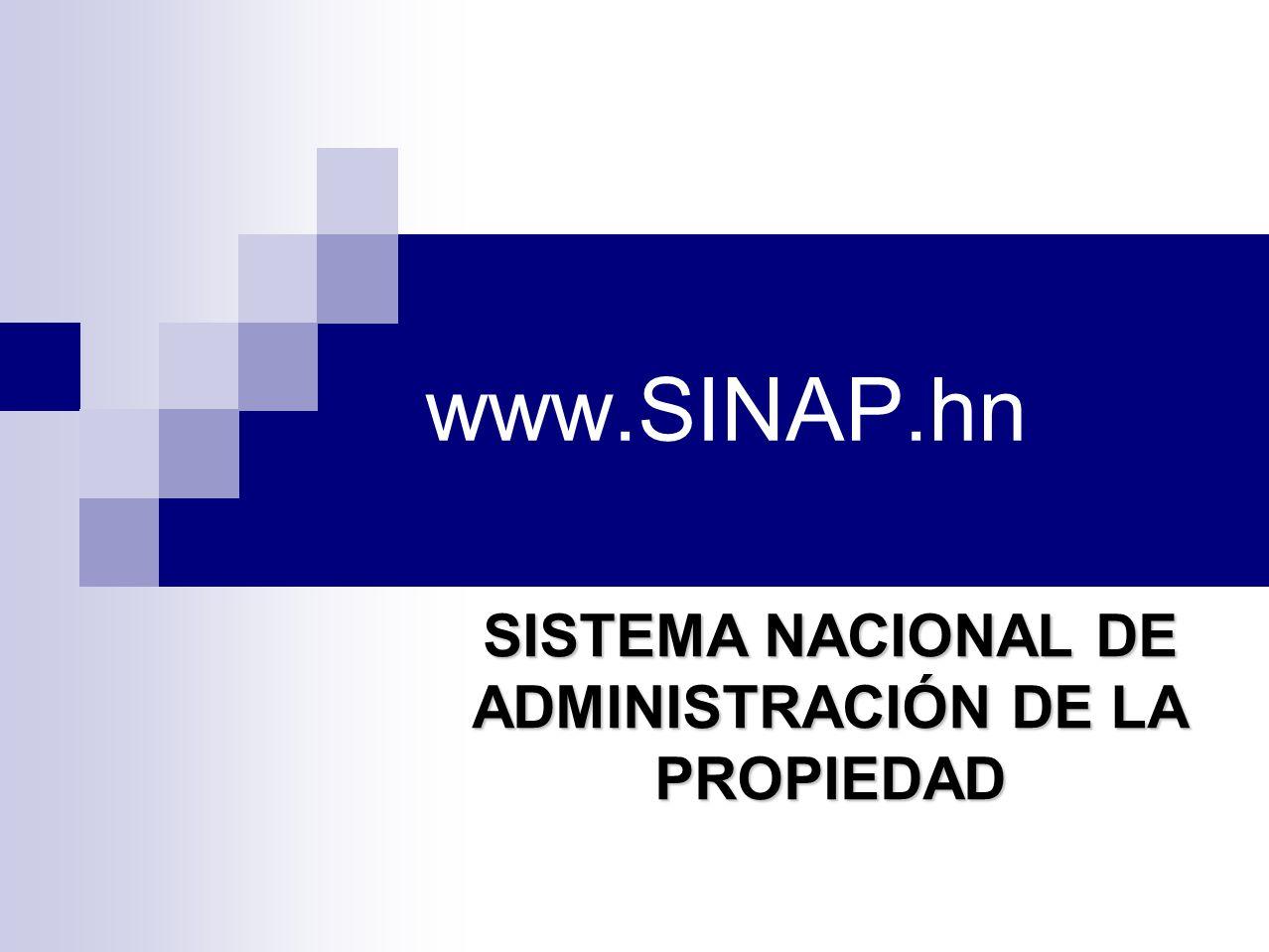 SISTEMA NACIONAL DE ADMINISTRACIÓN DE LA PROPIEDAD