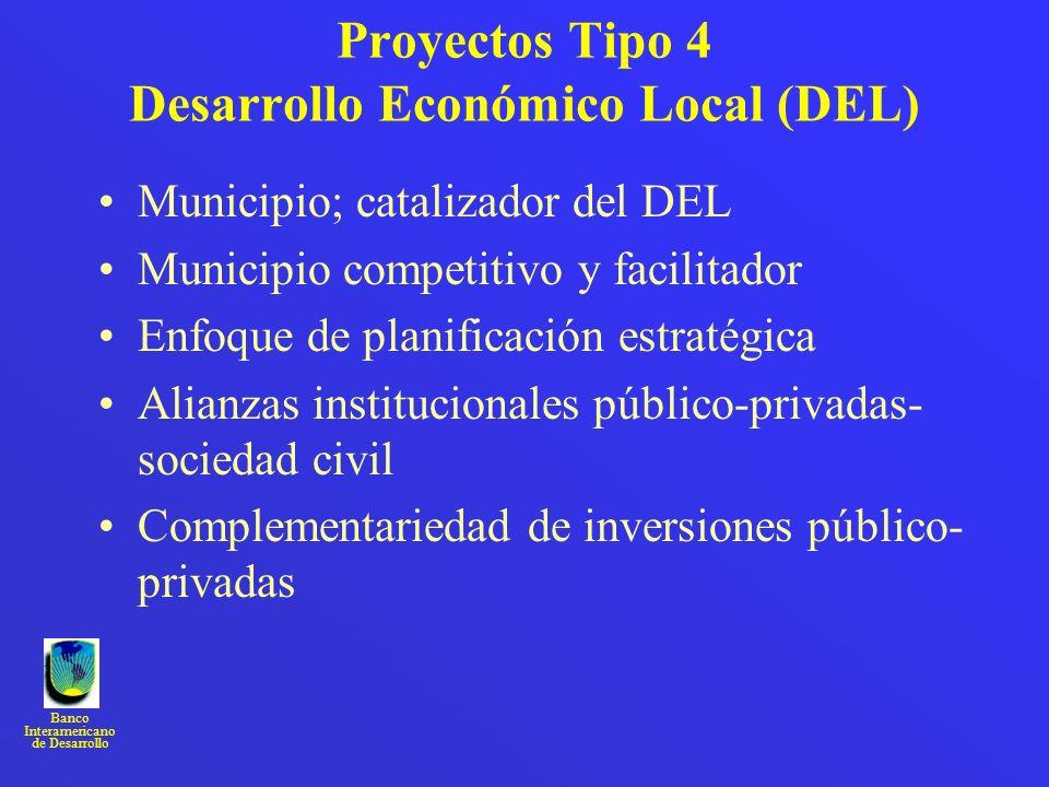 Proyectos Tipo 4 Desarrollo Económico Local (DEL)