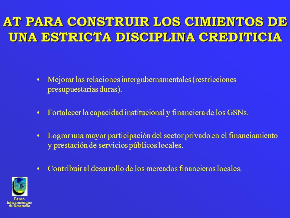 AT PARA CONSTRUIR LOS CIMIENTOS DE UNA ESTRICTA DISCIPLINA CREDITICIA