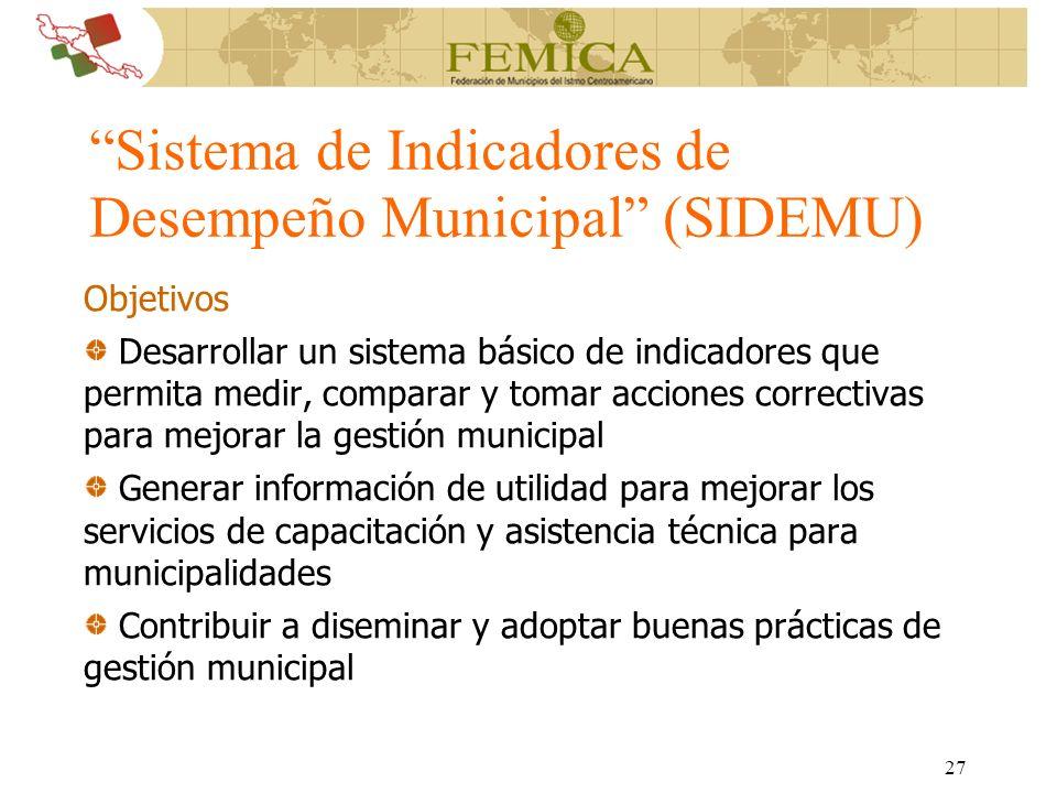 Sistema de Indicadores de Desempeño Municipal (SIDEMU)