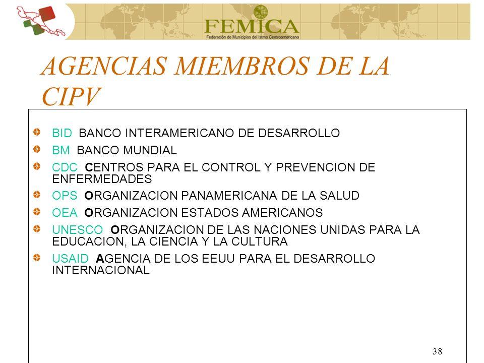 AGENCIAS MIEMBROS DE LA CIPV