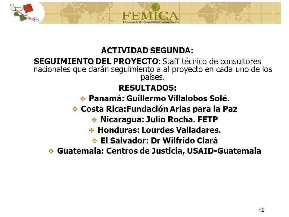 Panamá: Guillermo Villalobos Solé.