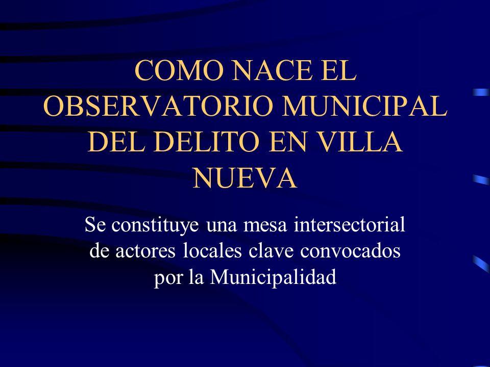 COMO NACE EL OBSERVATORIO MUNICIPAL DEL DELITO EN VILLA NUEVA