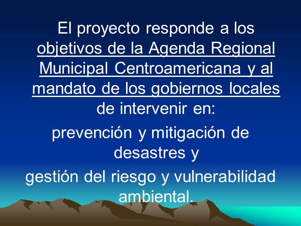 prevención y mitigación de desastres y