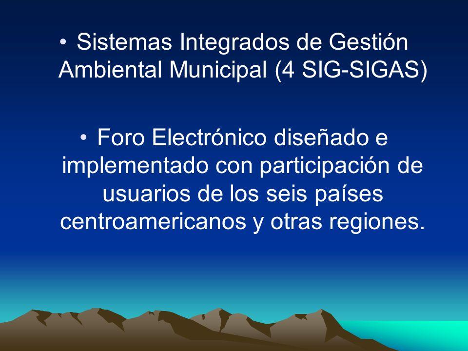 Sistemas Integrados de Gestión Ambiental Municipal (4 SIG-SIGAS)
