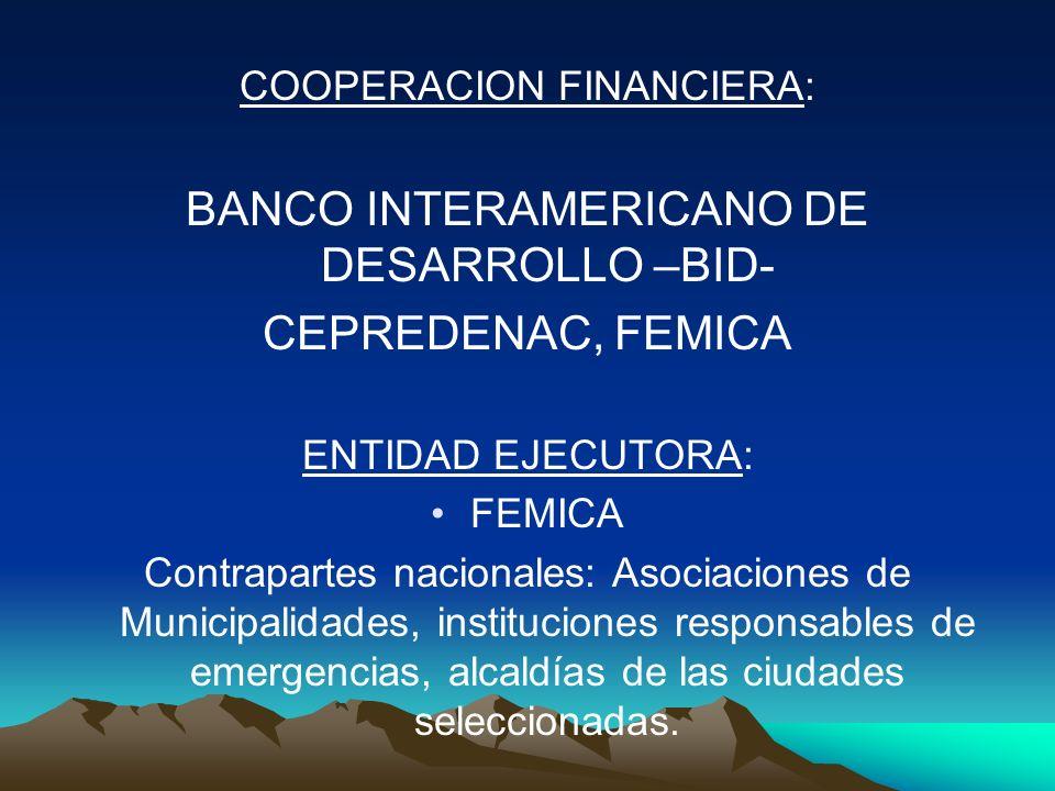 BANCO INTERAMERICANO DE DESARROLLO –BID- CEPREDENAC, FEMICA