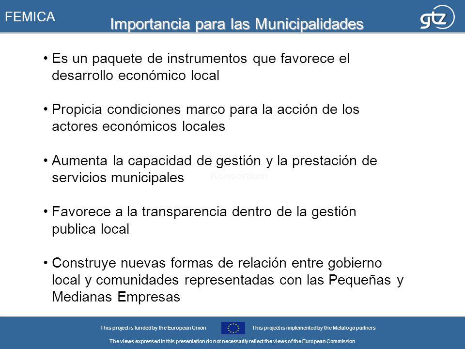 Importancia para las Municipalidades