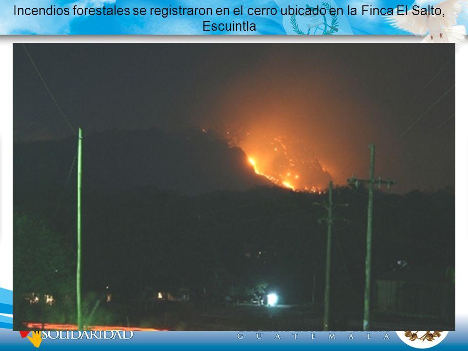 Incendios forestales se registraron en el cerro ubicado en la Finca El Salto, Escuintla