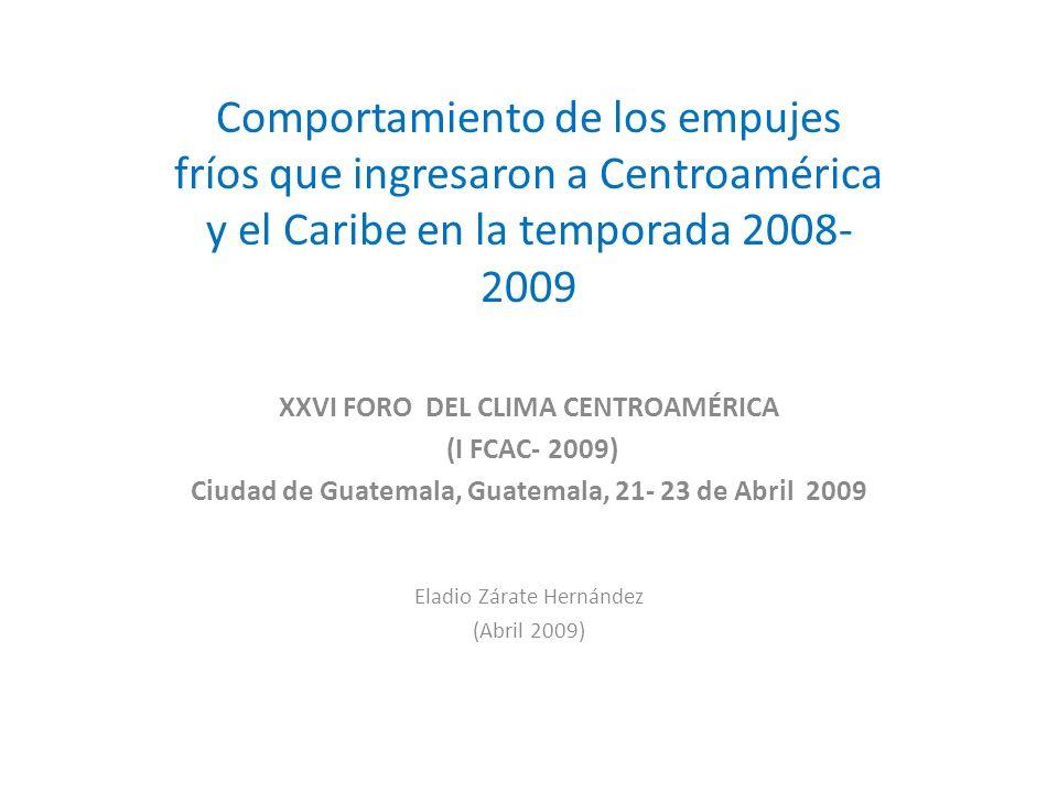 Ciudad de Guatemala, Guatemala, 21- 23 de Abril 2009